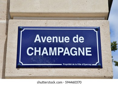 Epernay, France - july 26 2016 : Avenue de Champagne, the street of Champagne manufacturer