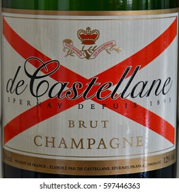 Epernay, France - july 26 2016 : the Champagne Castellane, a famous manufacturer