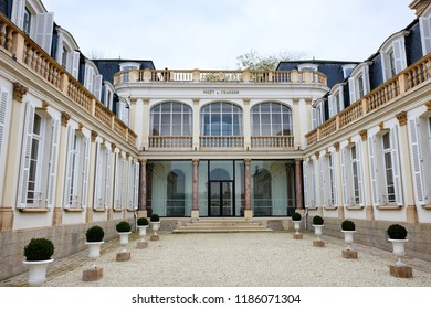 Epernay, France - November 18, 2017: Exterior of champagne house Moet & Chandon in Epernay, France.