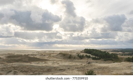 The Epha`s dune. Epha Height. Curonian spit in Kaliningrad region in Russia