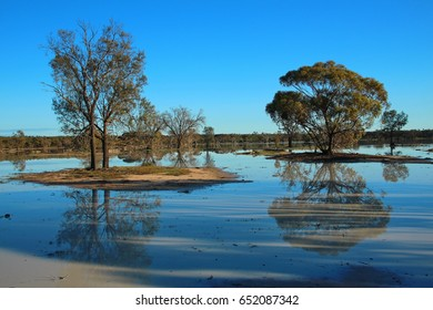 Ephemeral lake in Australian bush