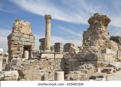 Ephesus Ancient City in Turkey.  It is one of the most visited tourist destination.