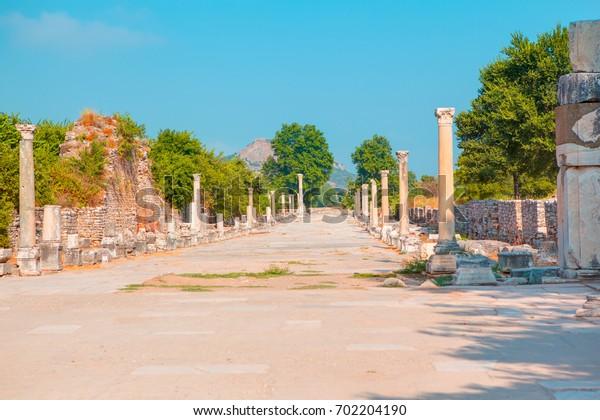 Ephesus ancient city . Ephesus in the UNESCO World Heritage List