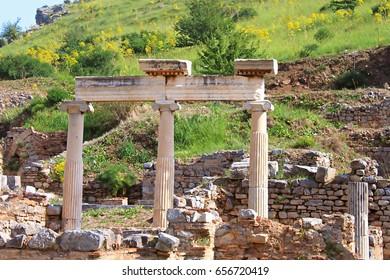 Ephesus ruins. Ancient Greek city on the coast of Ionia near Selcuk. Izmir province. Turkey. Asia Minor