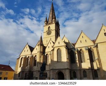 An epic cathedral in Sibiu, Romania