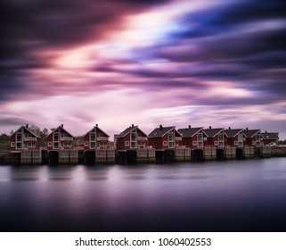 Epic Norway Lofoten cottages background