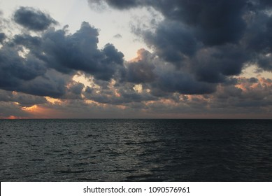 Epic sunrise above the Indian ocean which reflects in the waters. Andaman and Nicobar islands, India.