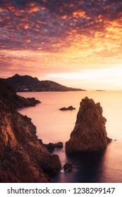 Epic sunrise on the cap dramont