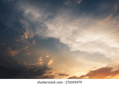 epic sunset sky background