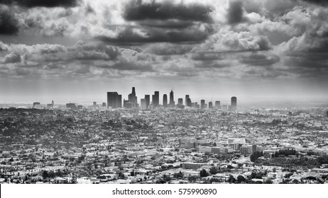 Epic View of Los Angeles, Black and White