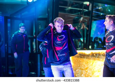 EPICENTER MOSCOW Dota 2 cybersport event may 13. Player of complexity team on the stage