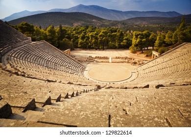 Epidaurus amphitheater in Greece
