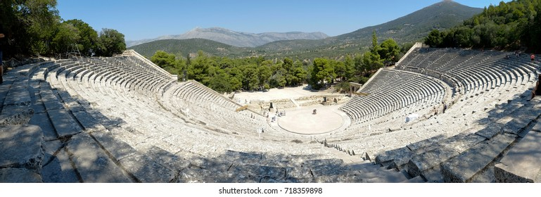 The Epidaurus Ancient Theatre is a theatre in the Greek old city of Epidaurus dedicated to the ancient Greek God of medicine, Asclepius