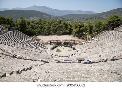 EPIDAURUS, GREECE - June 24, 2021: Views of the ancient city.