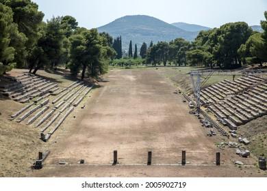 Epidaurus, Greece. Views of the ancient city.