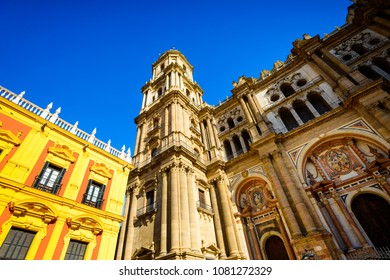Episcopal Palace and Malaga Cathedral, Historic and Artistic Center of Malaga, Andalusia, Spain, Iberian Peninsula