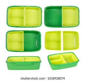 Epmty lunch box isolated on white background