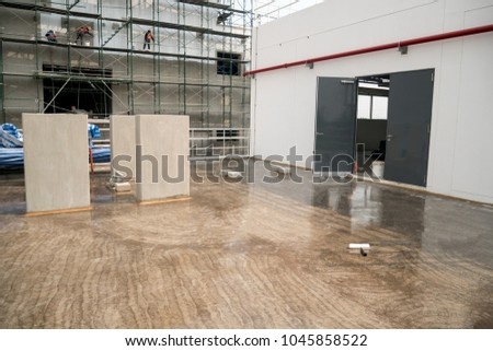 Epoxy Floor In Warehouse Factory Japan Construction Site Polishing Stone Concrete
