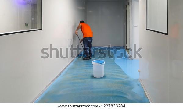 Epoxy Flooring Clean Room Stock Photo Edit Now 1227833284