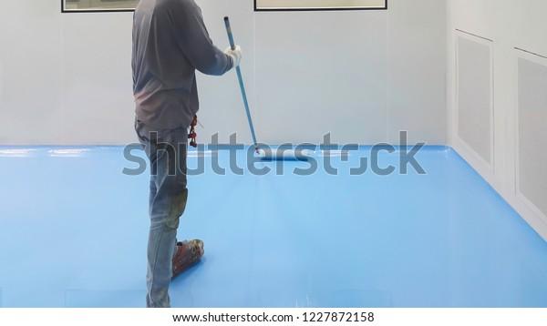 Epoxy Flooring Clean Room Stock Photo Edit Now 1227872158