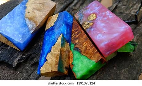 epoxy Resin casting burl wood Stabilized background
