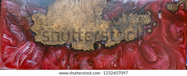 Epoxy Resin Stabilizing Burl Wood Red Stock Photo (Edit Now
