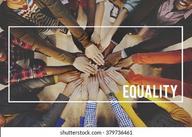 Equality Friends Team Community Fair Concept