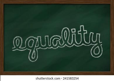 equality word written on chalkboard