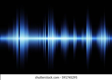 Equalizer sound wave background theme