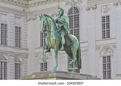 The equestrian statue in the courtyard of the old Imperial Palace