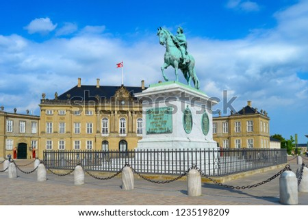 Equestrian Statue Frederik V By Amalienborg Stock Photo Edit Now
