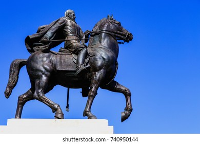 Equestrian statue in Naples, Italy