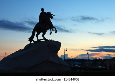 Equestrian statue of Peter the Great in Saint Petersburg, Russia