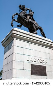 Equestrian statue of United States President Andrew Jackson.