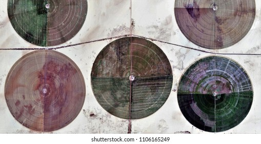 equilibrium, farms of human crops, in the desert, tribute to Pollock, abstract photography of the deserts of Africa from the air, aerial view, contemporary photographic art,