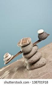 equilibrium tower of stones