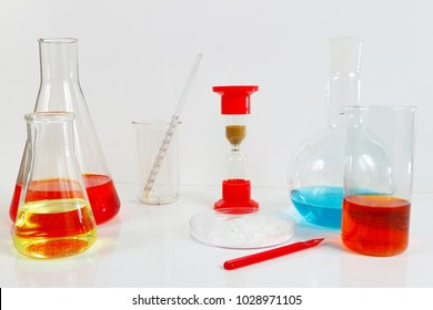 Equipment for clinical research on a white background