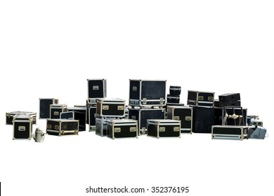 Equipment crate isolated for music-related shipping, Clipping path