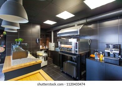 equipment in the kitchen in the restaurant