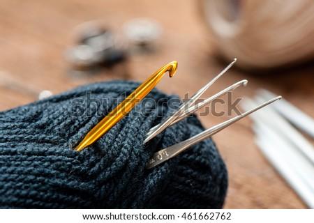 Equipment Knitting Crochet Crochet Hook Yarn Stock Photo Edit Now