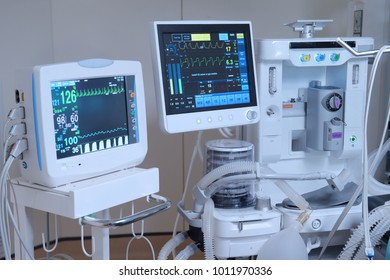equipment and medical devices in modern operating room - Shutterstock ID 1011970336