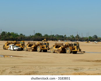 Equipment Parked at a Construction Site