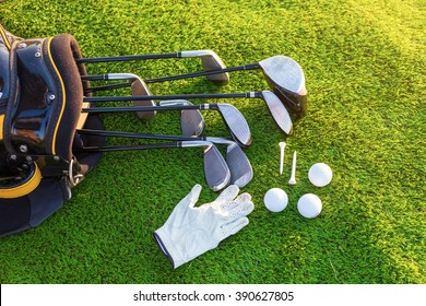 Equipment for playing golf.