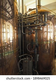 Equipment for the preparation of beer. Brewery.