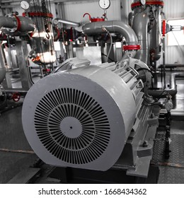 Equipment for primary oil processing. Water pump. Pumping plant