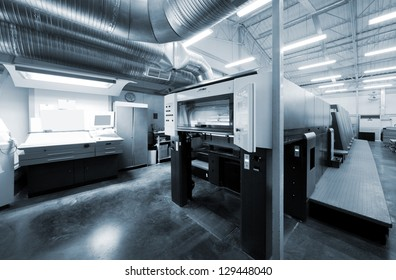 equipment for printing in a modern printing house