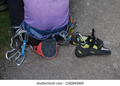 equipment for rock climbing