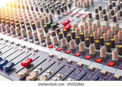 equipment for sound mixer control.