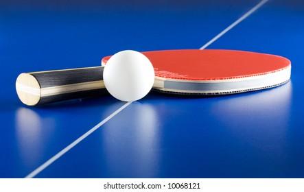 Equipment for table tennis - racket, ball, table