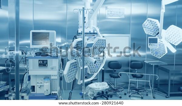 Ausrüstung und Technologien für die chirurgische Behandlung des Patienten und für die Anästhesie